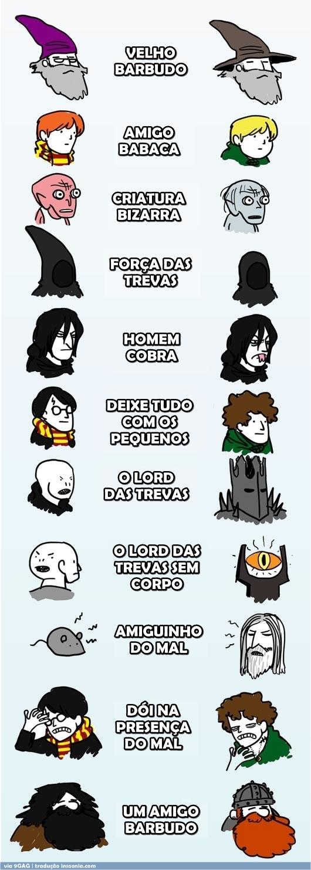 Harry-Potter-VS-Senhor-dos-Anéis